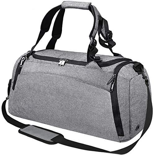 Sporttasche Männer Reisetasche mit Schuhfach Gym Fitness Tasche mit Rucksack-Funktion 40 Liter Handgepäck...