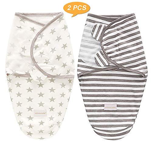 SaponinTree Pucksack Baby Wickeldecke für Neugeborene von 0-6 Monate, 2er Pack Universal Verstellbare...