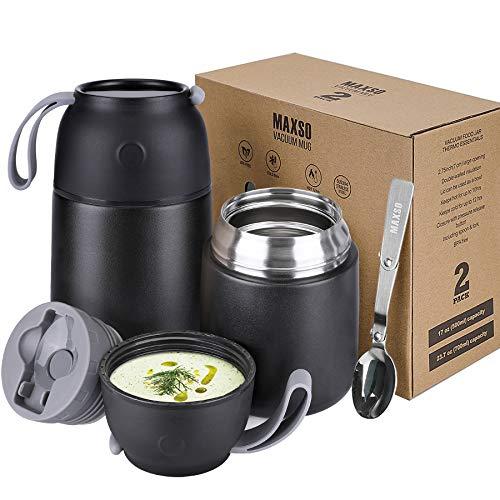 Thermobehälter für Essen 500ml, 700ml Thermosspeisebehälter Edelstahl Essensbehälter Speisegefäß mit...