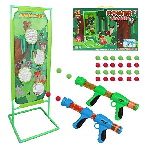 DeeXop Schießspiel für Nerf Kinder Spielzeug Jungen 5 6 7 8 9 10+ Jahre alt, 2PK Foam Ball Popper Air Toy...