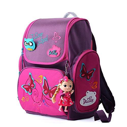 Schulranzen,Schulranzen Mädchen Schmetterling,Ergonomischer Schulranzen Mädchen 1-4.Klasse,Mädchen...