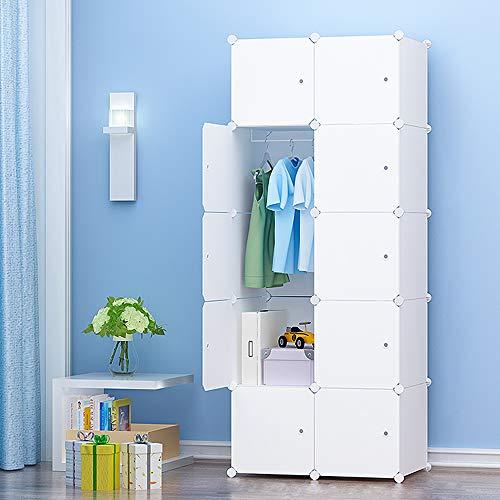 PREMAG Portable Garderobe für hängende Kleidung, Kombischrank, modulare Schrank für platzsparende, ideale...