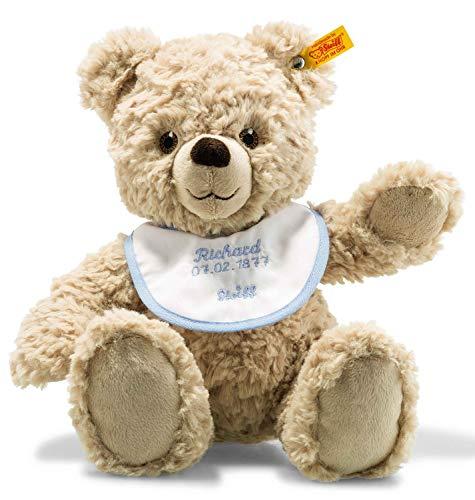 Steiff Teddybär zur Geburt - 30 cm - Teddybär mit Lätzchen rosa/blau - Kuscheltier für Babys - weich &...
