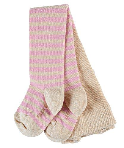 FALKE Baby Strumpfhosen Stripe - Baumwollmischung, 1 Stück, Beige (Sand Melange 4650), 74-80