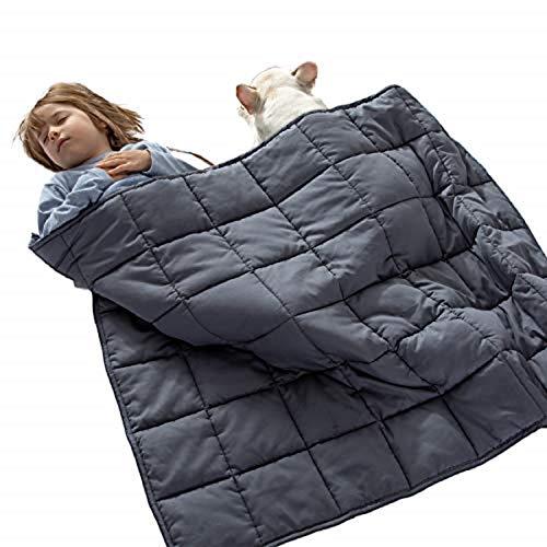 Bedsure Therapiedecke Gewichtsdecke Kinder 3.2kg - beschwerte Decke Gewicht Bettdecke ca. 3 kg, Weighted...