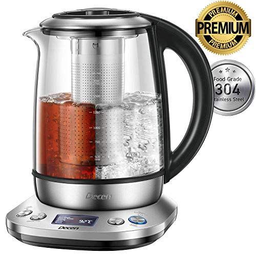 Wasserkocher DECEN Wasserkocher Glas   Temperatureinstellung 40-100 Grad   1,7 Liter   2200 Watt  ...