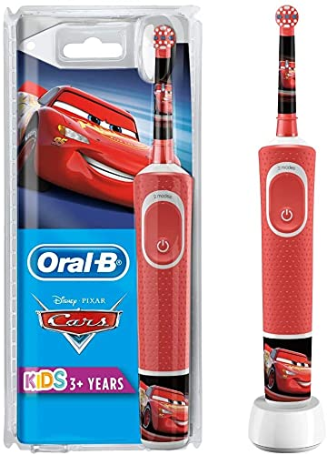 Oral-B Kids Cars Elektrische Zahnbürste für Kinder ab 3 Jahren, kleiner Bürstenkopf & weiche Borsten, 2...