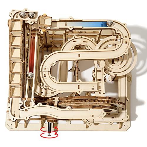 Robotime Murmelbahn Holz 3D Puzzle Erwachsene Kugelbahn Spiel Perpetuum Mobile Mechanische Technik Spielzeug...
