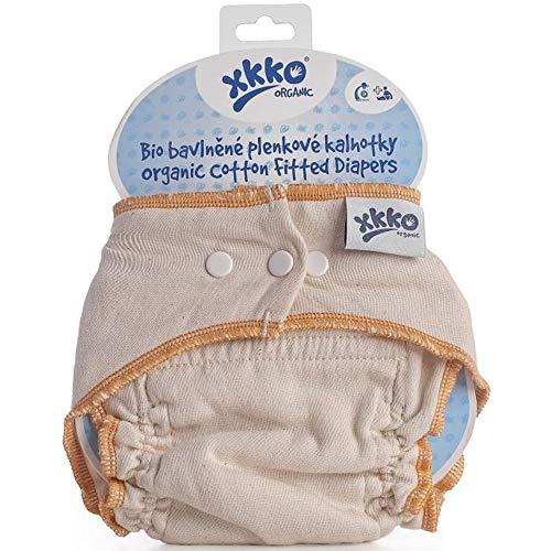 XKKO Höschenwindel (100% Bio-Baumwolle) - Größe S (4-6,5 kg) - orangener Saum