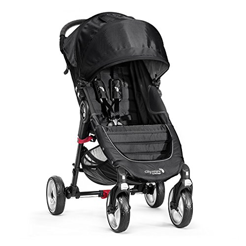 Baby Jogger City Mini-4-Rad-Kinderwagen, Single-Modell, Schwarz