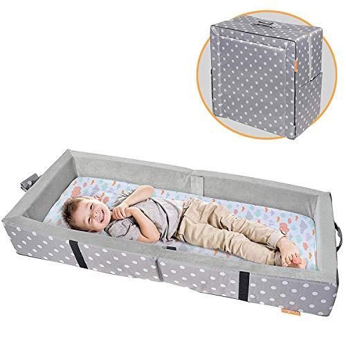 Milliard - Tragbares Kleinkindbett mit Weichen Seiten - Zusammenklappbar zum Reisen - Matratze Misst 122 x 50...