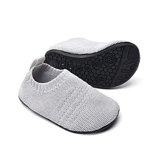 Sosenfer Kinder Hausschuhe Jungen mädchen Anti-Rutsch Sohle Kleinkinder Schuhe Baby Slipper Unisex-HUIQIAN-30