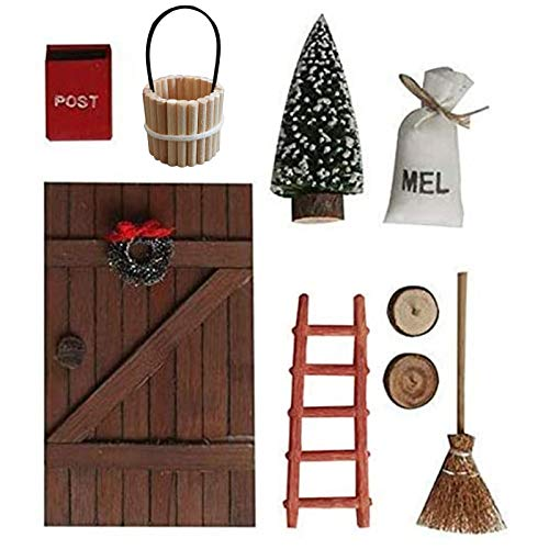 Deko Dänische Wichtel Tür Wichteltür Nissedor Befestigen an der Wand Türwand hängende Ornamente...