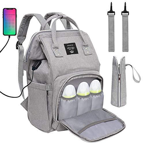 Baby Wickelrucksack Wickeltasche, Multifunktional Große Kapazität Babytasche Reisetasche für Unterwegs,...