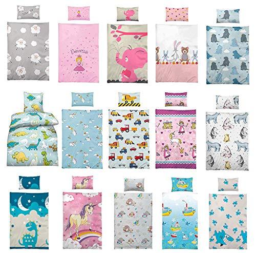 Wasserbetten-Markenshop Kinder Bettwäsche 100 x 135 cm + Kissen 40 x 60 cm 100% Microfaser, mit Verschiedenen...