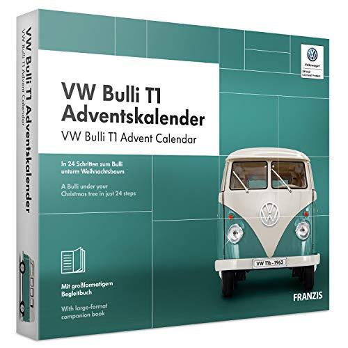 FRANZIS VW Bulli T1 Adventskalender 2019, In 24 Schritten zum Bulli unterm Weihnachtsbaum, Das Kultauto im...