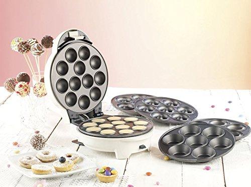 Rosenstein & Söhne Donatmaker: 3in1-Donut-, Cupcake- und Cakepop-Maker mit Antihaftbeschichtung (Cake Pop...