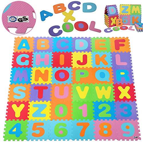 Deuba® 86 TLG Puzzlematte TÜV SÜD GS geprüft Kinderspielteppich Spielteppich Neues Modell 2021 Spielmatte...