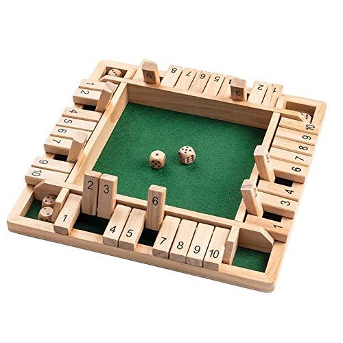 Brettspiele Holzbrettspiele Mathematik Familienspiel Brettspiel Aus Holz Vierseitiges Flop-Spiel EIN...