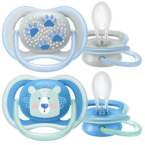 Philips Avent Ultra Air Schnuller SCF085/03, Atmungsaktiv, Kiefergerecht, BPA frei, 6-18 Monate, 2er Pack,...