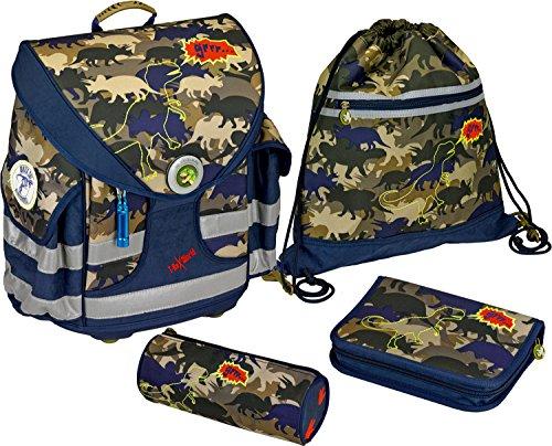 Ranzenset Ergo Style plus T-Rex World 'Camouflage'