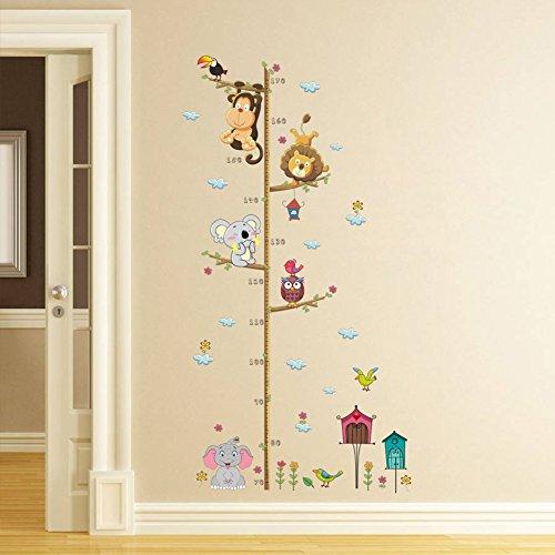 ElecMotive Abnehmbare Messlatte Körpergröße Messen Wandsticker für Kinderzimmer in Geschenkkarton verpackt...