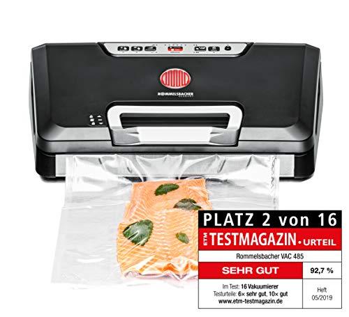 ROMMELSBACHER Vakuumierer VAC 485 - Absaugleistung 15 Liter/Min., Einhand-Bedienung, für Langzeitbetrieb...
