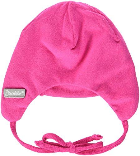 Sterntaler Mütze für Mädchen mit Bindebändern, Alter: 0-1 Monat, Größe: 33, Rosa (Magenta)