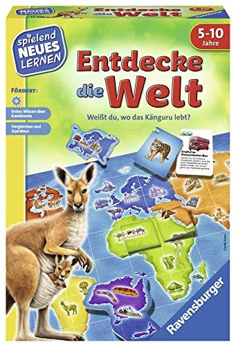 Ravensburger 24990 - Entdecke die Welt - Spielen und Lernen für Kinder, Lernspiel für Kinder von 5-10...
