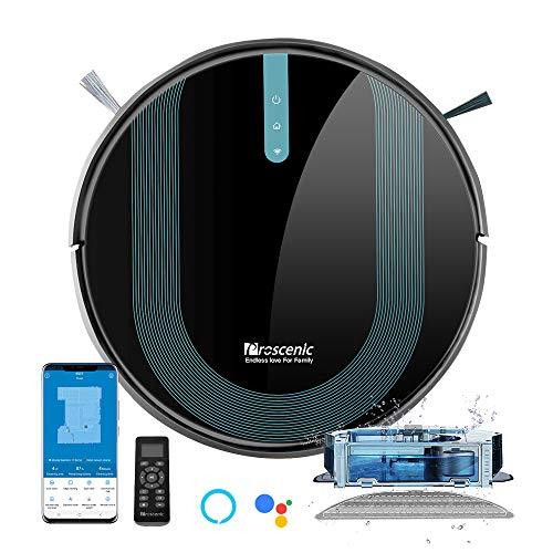 Proscenic 850T WLAN Saugroboter, Staubsauger Roboter, Alexa & Google Home & Appsteuerung, Saugroboter mit...