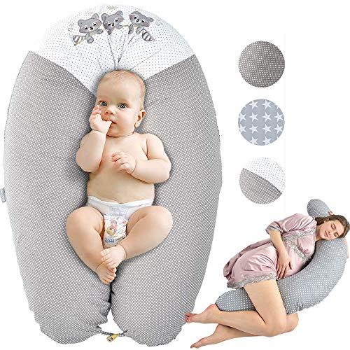 Sei Design Stillkissen Schwangerschaftskissen Lagerungskissen Ökotex zertifiziert| Extra leise Füllung....