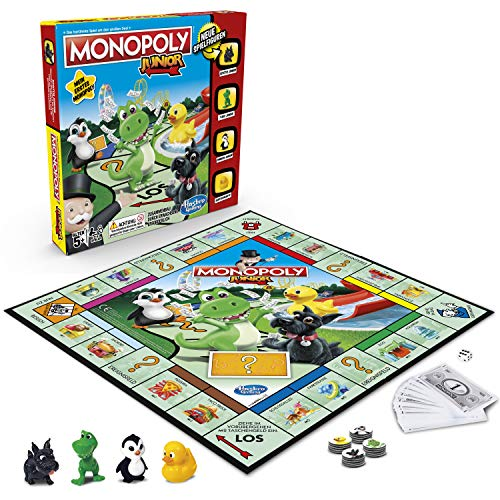 Hasbro Gaming A6984594 Hasbro Monopoly - Junior, der Klassiker der Brettspiele für Kinder, Familienspiel, ab...
