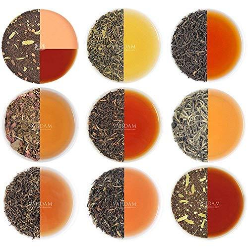 VAHDAM, Assorted Loser Blatt-Tee- 10 TEEES, 50 SERVIEREN - Schwarzer Tee, Grüner Tee, Oolong-Tee, Chai-Tee,...