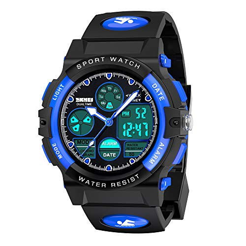 wetepuxi Kinderuhr Junge, Geschenk Junge 5 6 7 8 9 Jahre Armbanduhr Jungen Geschenke zur Einschulung Sportuhr...