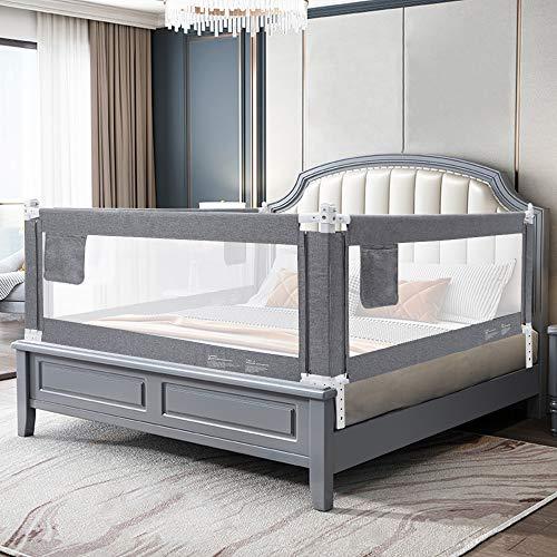 YIKANWEN Bettgitter, 200cm Bettschutzgitter Kinderbettgitter Babybettgitter,passend für Kinderbetten,...