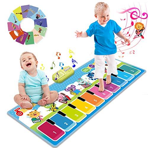 Joyjoz Musikmatte Kinder Klaviermatte mit 90+ Sounds, Piano Matte Tanzmatte für Baby, Kinder Keyboard...