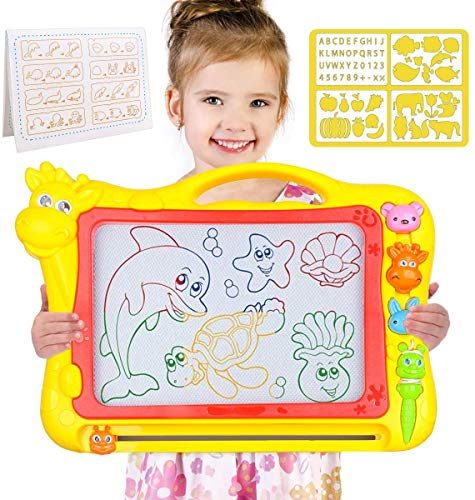 MerryXGift Magnetische Zeichenbrett - Große (43 x 30 x 5 cm) Kinder Zaubertafel Doodle Board Pad Bunt...