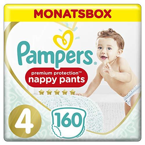 Pampers Premium Protection Pants, Gr. 4, 9kg-15kg, Monatsbox (1 x 160 Pants)