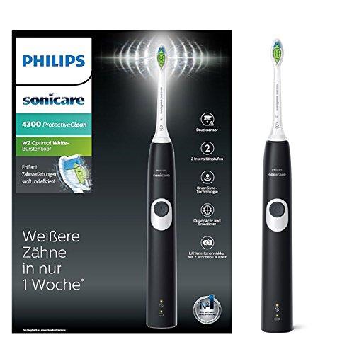 Philips Sonicare ProtectiveClean 4300 elektrische Zahnbürste HX6800/28 – Schallzahnbürste mit...