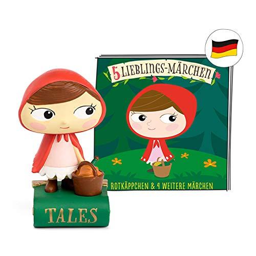 tonies Hörfiguren - 5 Lieblings Märchen Figur: Rotkäppchen, Frau Holle, Dornröschen, Rumpelstilzchen,...