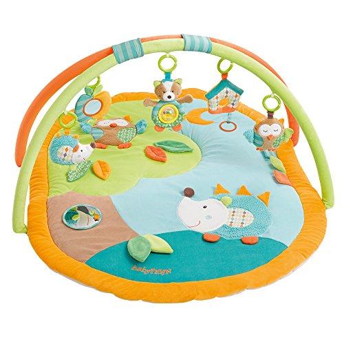 Fehn 071559 3-D-Activity-Decke Sleeping Forest / Spielbogen mit 5 abnehmbaren Spielzeugen für Babys Spiel &...
