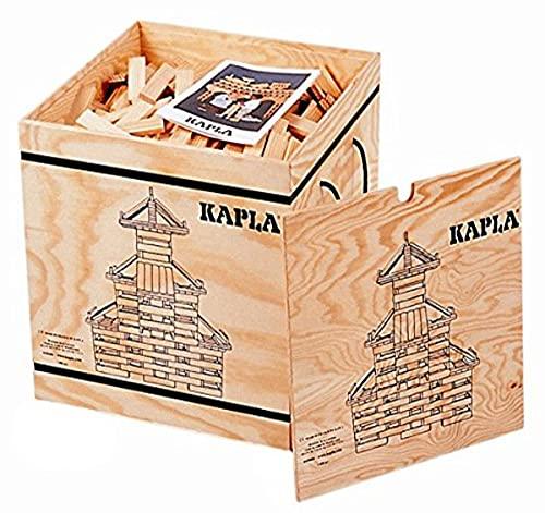 KAPLA PC 9000200 Holzkiste 1000-teilig Original Holz Bausteine Plättchen Klötze