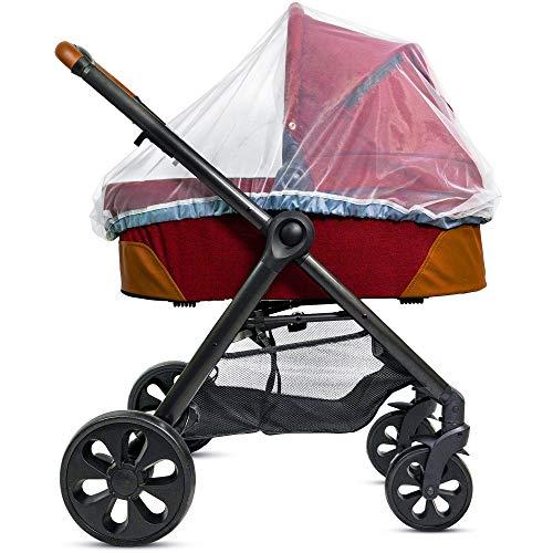 Baby Moskitonetz für Kinderwagen, Tragesitz und Stubenwagen - Elastische Kordel für festen Sitz –...