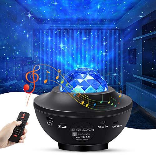 solawill LED Projektor Sternenhimmel Lampe, LED Sternenlicht Projektor mit Fernbedienung/Bluetooth/Timer...
