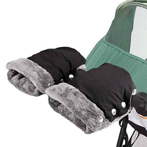 Kinderwagen Handwärmer, Yesloo Kinderwagen Handschuhe mit Fleece Innenseite,Kinderwagenmuff Atmungsaktiv...