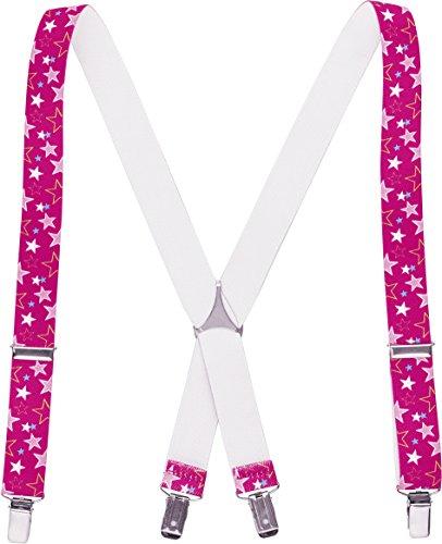 Playshoes Kinder-Unisex Sterne Hosenträger, Rosa (Pink 18), 70 cm