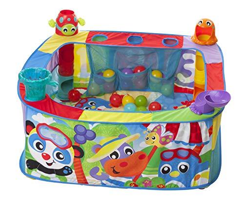 Playgro Pop Up Baby Bällebad, Ab 6 Monaten, Pop and Drop Ball Activity Gym, Bunt, 40175