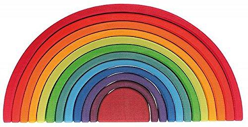 Grimm's Spiel und Holz Design 12-teiliger Regenbogen gross