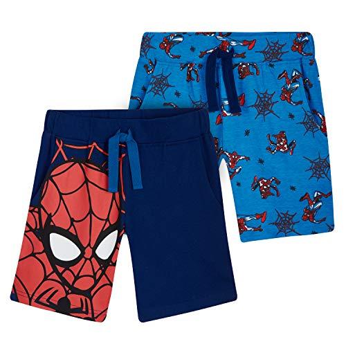Marvel Spider-Man Hose Jungen Kurz, Jogging Hose Jungen, 2-12 Jahre, Spiderman Freizeithose Jungen 2er Pack...