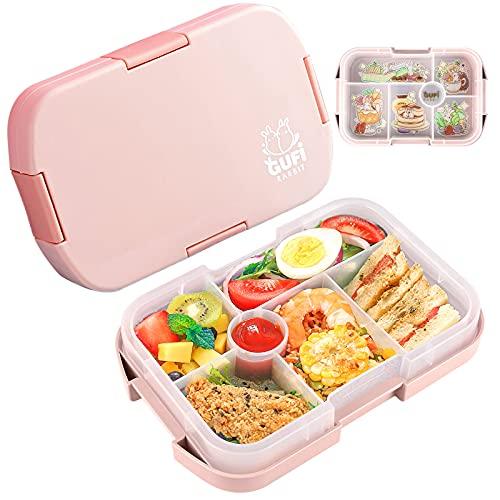 Lunchbox mit 6 Unterteilten Fächern Robust und Auslaufsicher Brotzeitbox,Box Kinder Brotdose,1000ML Jausenbox...
